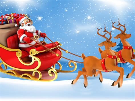 Christmas Postcard Santa Claus In A Sleigh With Gifts