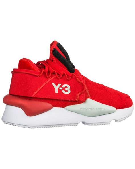 Lyst - Y-3 Red Kaiwa Striped Low-top Sneakers in Red for
