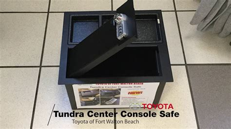 The All-New Toyota Tundra Center Console Safe | Toyota of