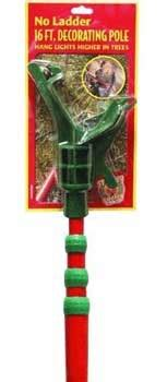 Hanging Accessories - 16' Christmas Decorating Pole with