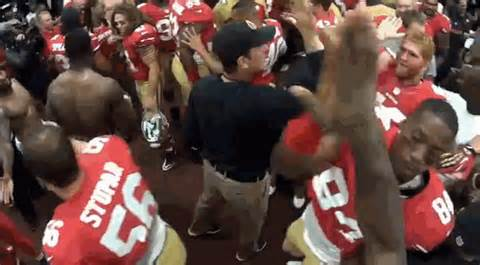 49ers post-game speech features hand slaps - Niners Nation
