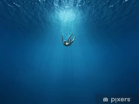 Man falls into the depths Wall Mural • Pixers® - We live