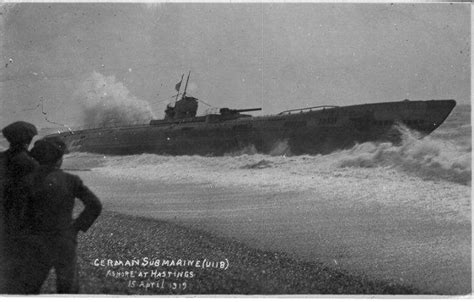 U-118: Wrecked German U-boat Washed up on Hastings Beach