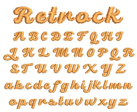 Retrock 10mm Embroidery Font WilcomEmbroideryFonts