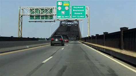 Pulaski Skyway westbound - YouTube