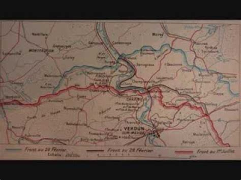 """rare"" carte du front de verdun 1916 - YouTube"