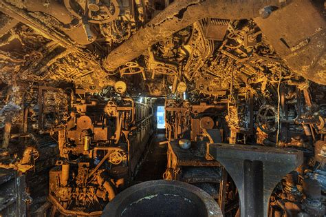 Internal shots of the salvaged U-boat U-534 | German