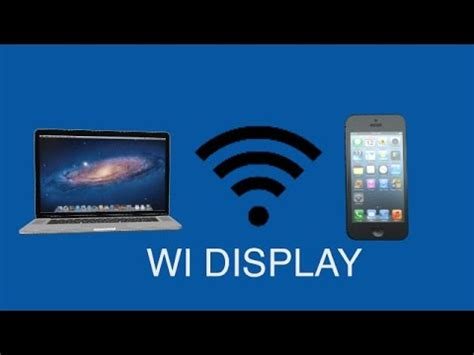 Wi Display - Wireless display for your Mac or PC - YouTube