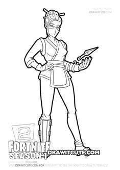 Sorana | Fortnite Chapter 2 coloring page - Draw it cute