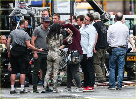 Sofia Boutella Films 'The Mummy' in Full Costume & Makeup