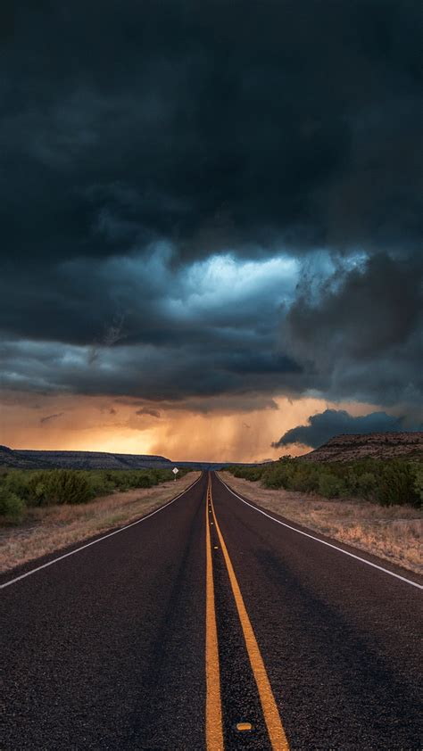 road-state-texas-clouds-iPhone-Wallpaper - iPhone Wallpapers