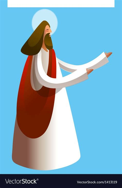 Side view of Jesus Christ praying vector image on